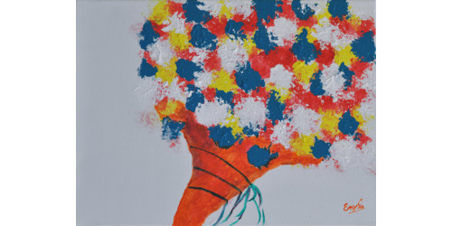 Toile Cornet de fleurs